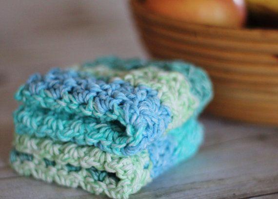 puffy crochet wash cloths