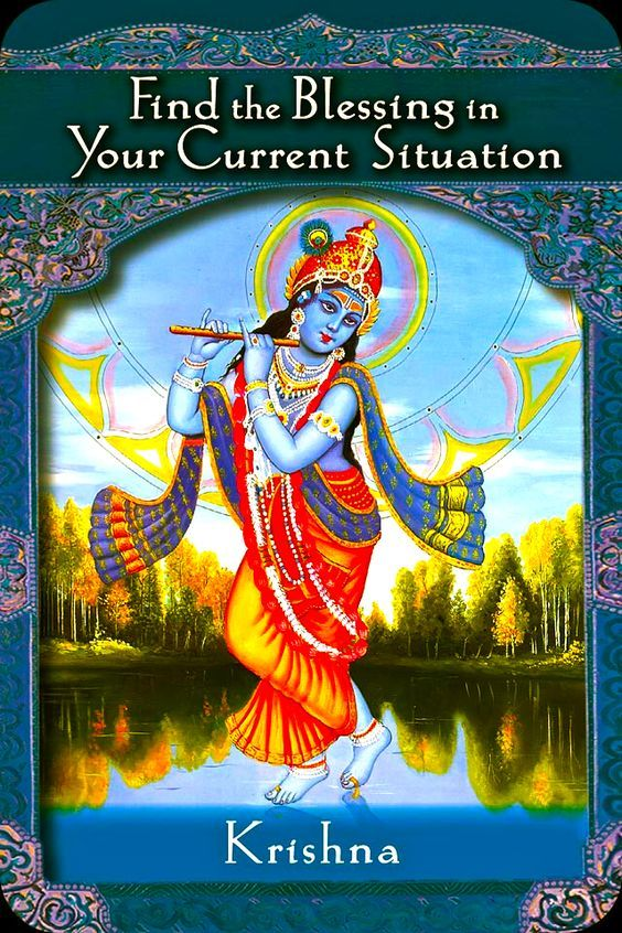"""Daily Angel Oracle Card: Krishna, from the Ascended Masters Oracle Card deck, by Doreen Virtue, Ph.D Krishna: """"Find the blessings in your current situation."""" Card Meaning: """"Every …"""