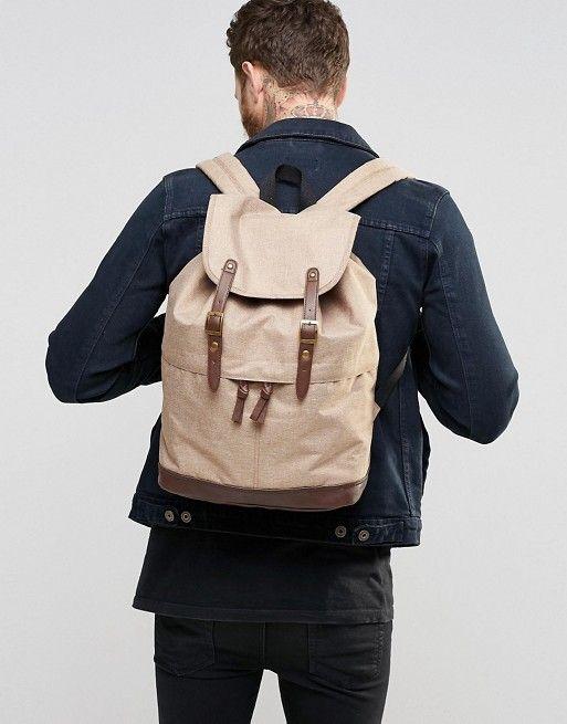 ASOS | ASOS Backpack In Brown Melange