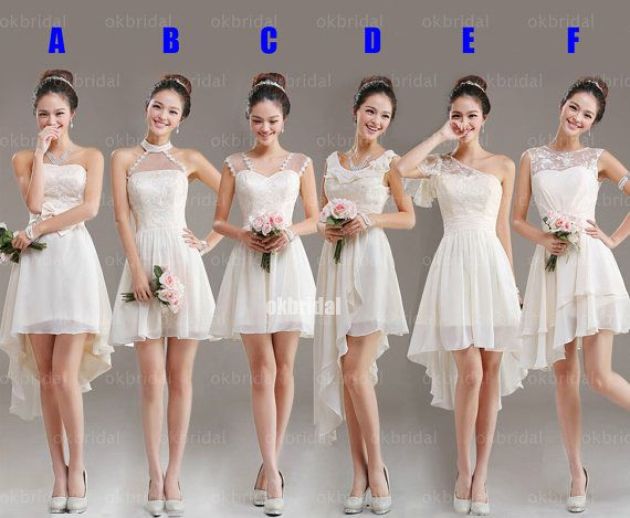 white lace bridesmaid dresses mismatched bridesmaid dresses by okbridal
