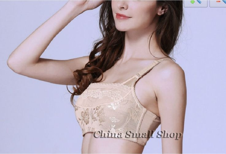 (32.03$)  Know more  - Free shipping Woman Lace Breast cancer bra Pocket Breathable Mastectomy bra push up Lace underwear