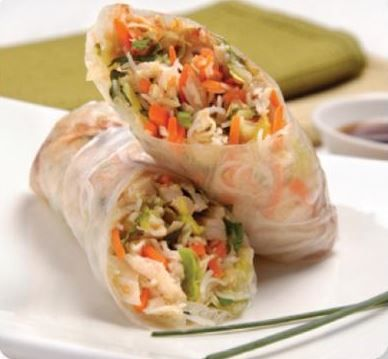 Turkey Salad Rolls with Cherry Hoisin Sauce