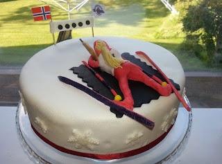 Biathlon cake