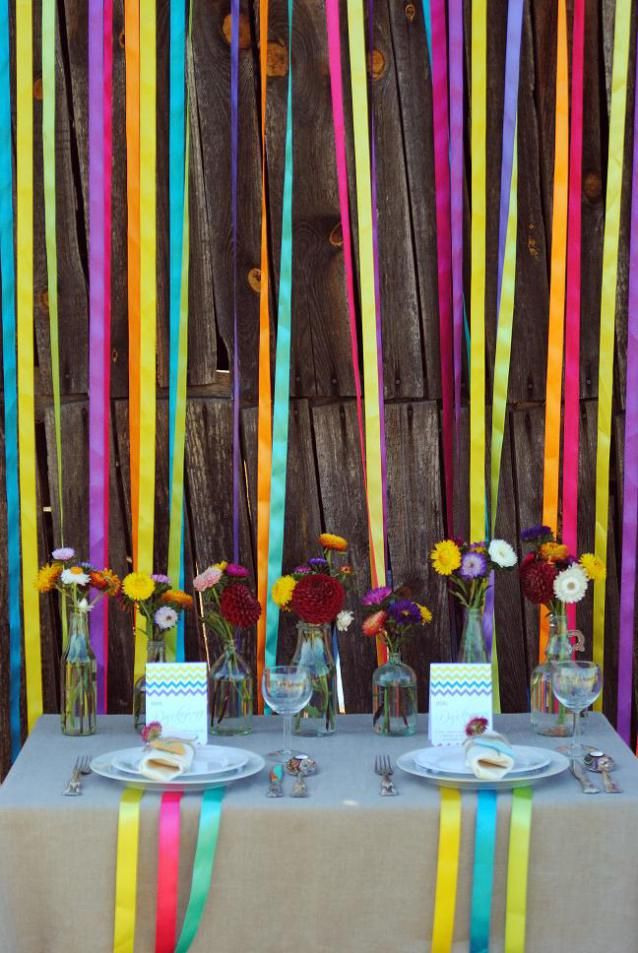 Colourful party decoration