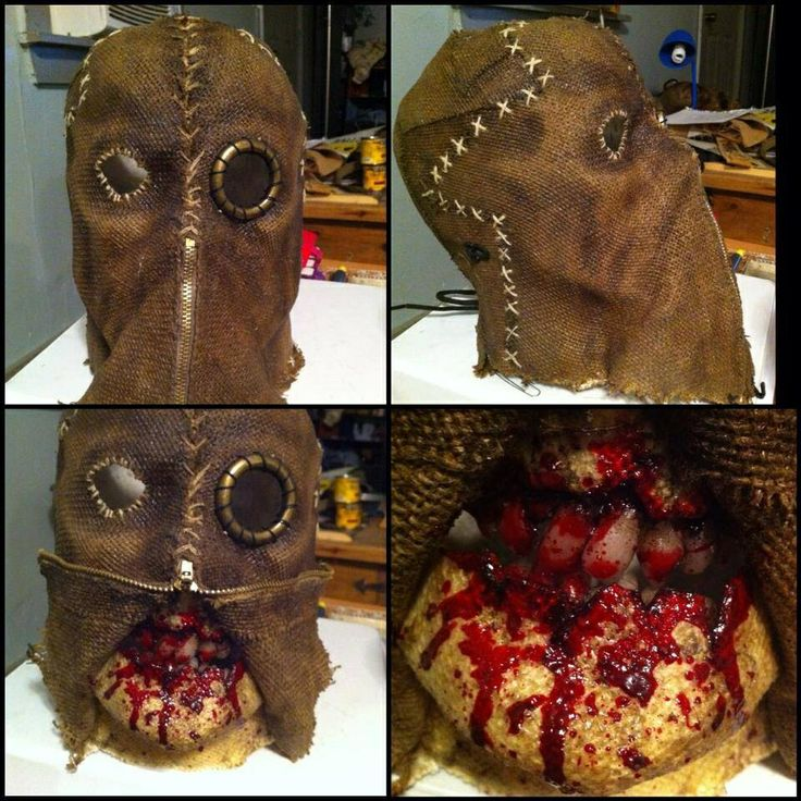 how to make a scarecrow mask out of burlap