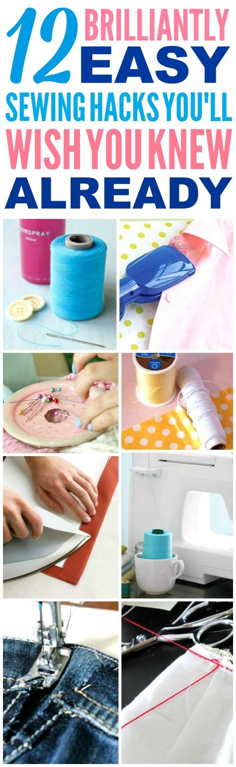 These easy sewing hacks are THE BEST! I'm so happy I found these AMAZING tips! Now I have some great sewing tips and tricks that'll make it faster and easier! Definitely pinning!