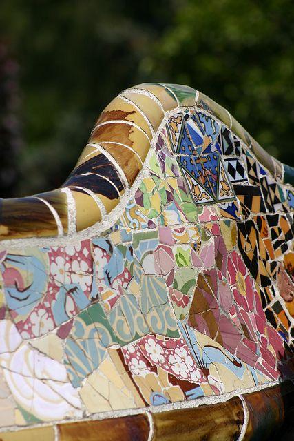 Gaudi mosaic bench, Parc Guell, Barcelona