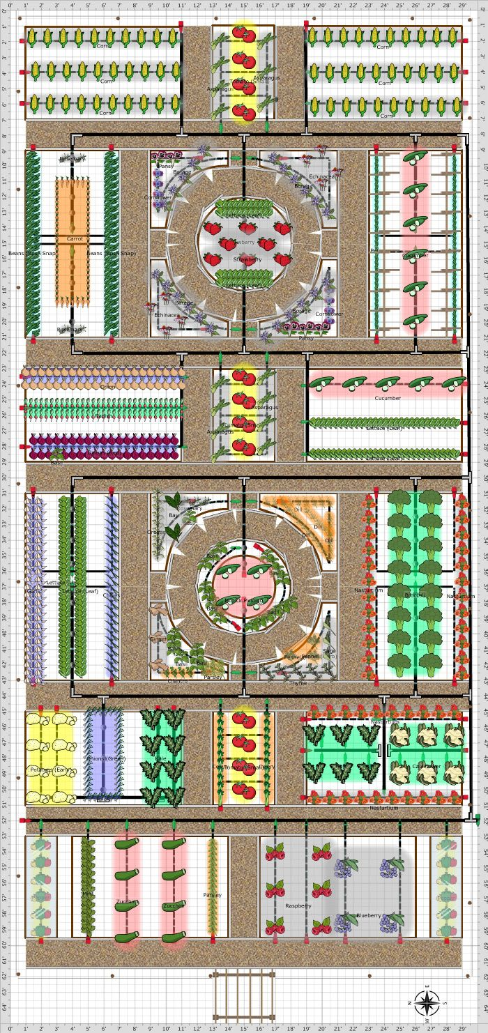 Lovely potager plan click on it to see what plants were used...
