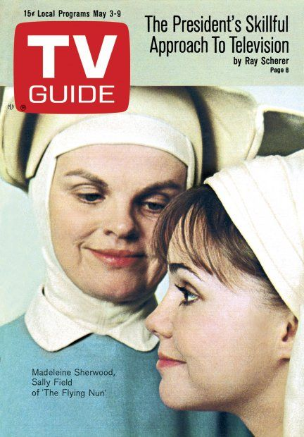 """TV Guide: May 3, 1969 - Madeleine Sherwood and Sally Field of """"The Flying Nun"""""""