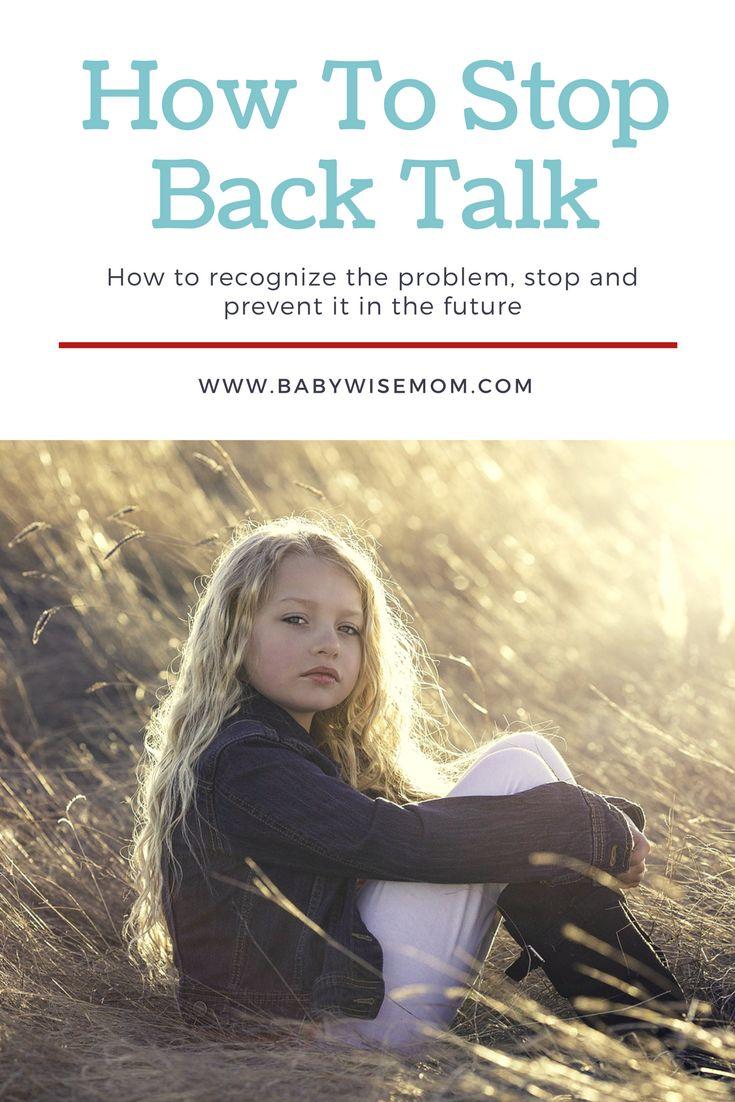 How To Stop Back Talk | Mom advice | discipline