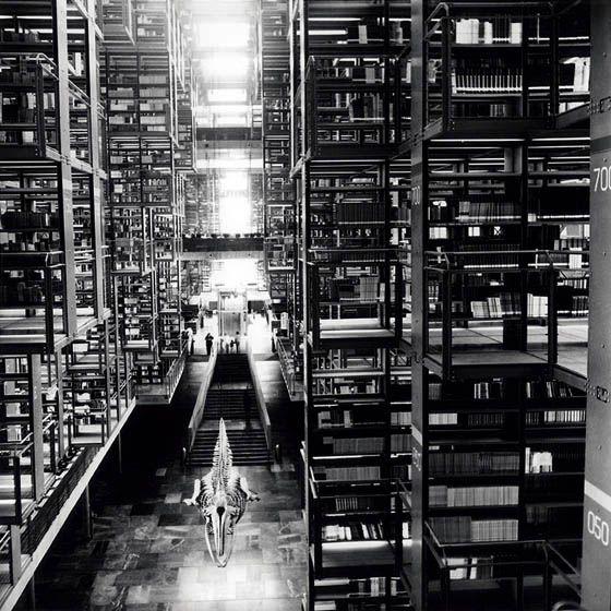 josé vasconcelos library, mexico-city. by architect roberto kalach. photo by tomas casademunt.