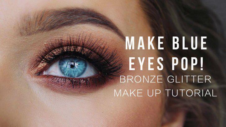 Pin for Later: Mit diesen 9 Makeup Tutorials bringt ihr blaue Augen zum Strahlen  Anhand von Bronze-farbenem Lidschatten erklärt Rachel Leary eindrucksvoll, wie warme Farbtöne euren blauen oder grünen Augen schmeicheln.