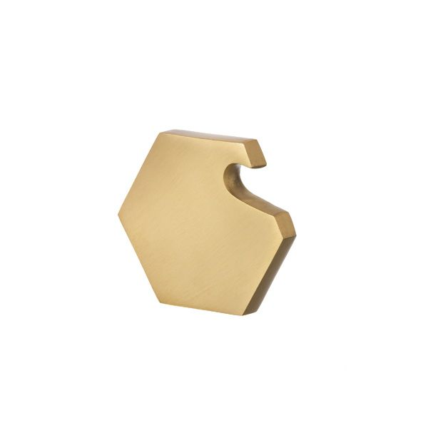 brass hexagon bottle opener