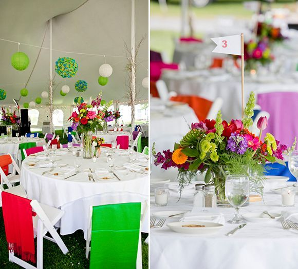 A Rainbow Of Colors Fill This Fun Festive Basin Harbor Club Wedding
