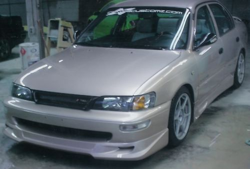 New toyota corolla gtec trd front lip body kit 1993 94 95 ...