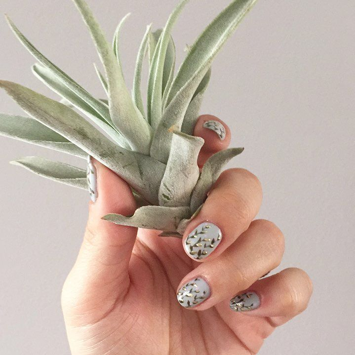 Plant mani, created by Elyse Connery at Holden Grace in Toronto
