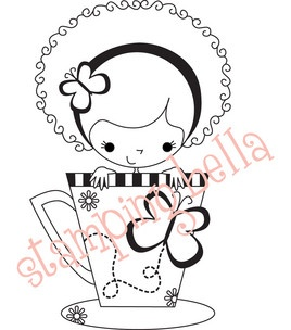 Stamping Bella Unmounted Rubber Stamp-Meredith The Teacup Girl
