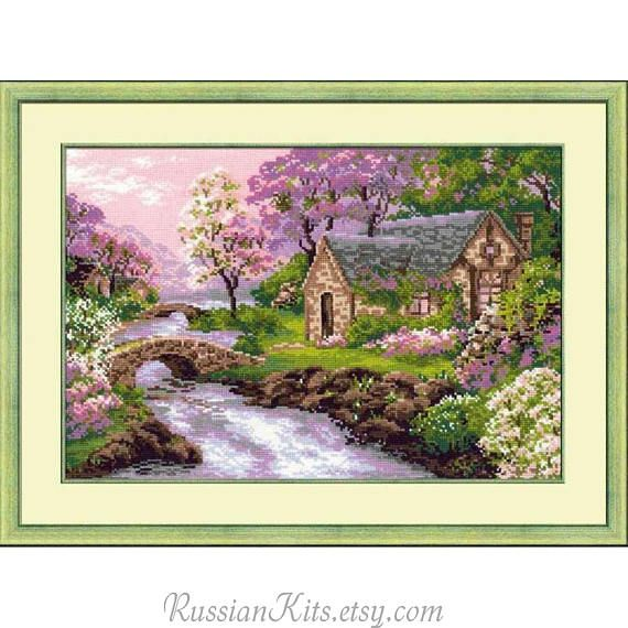 Counted Cross Stitch Kit  Spring landscape Riolis