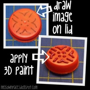 Super easy way to make your own stamp - why didn't I think of this before?!