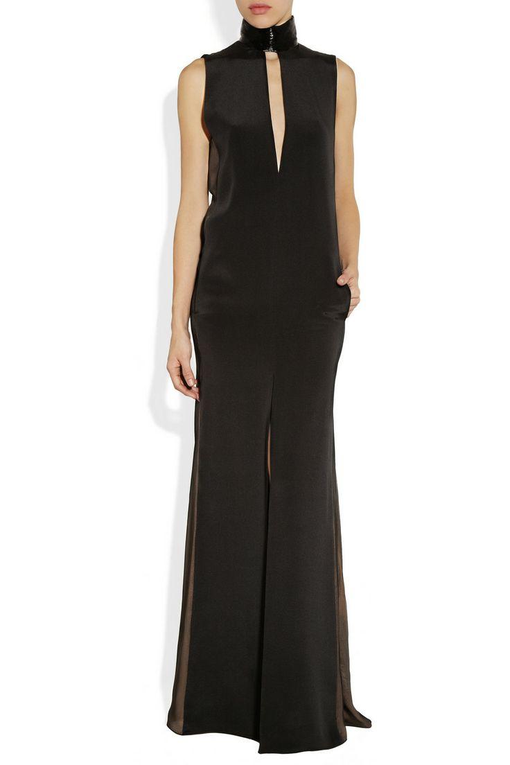 Emilio Pucci | Beaded-neck paneled silk gown | NET-A-PORTER.COM