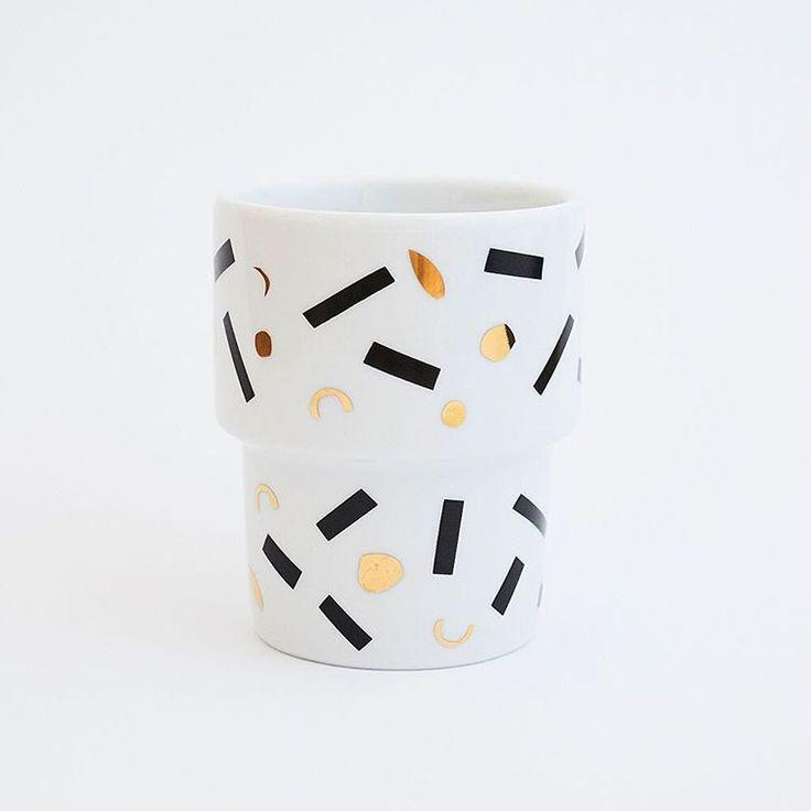 Patyna x @malwinakonopacka x @mamsam666, photographed by @max_zielinski and @elizadunajska #soon #new #polish #design #porcelain #milkybar #cup #kitchen #breakfast #pattern #illustration #inspiration #newlook #gold