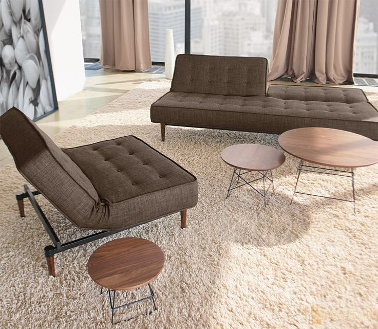 Silenos Sofa And Silenos Chair   Dark Brown Begum  Innovation