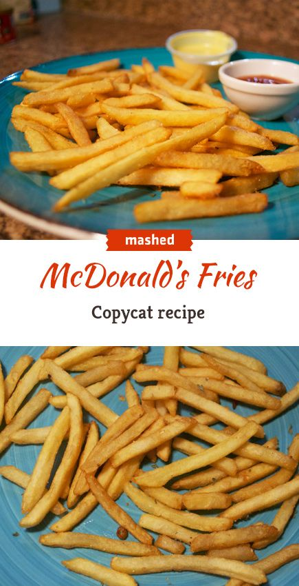 Make your own McDonald's fries at home. You won't believe what's in these! #copycat #mcdonalds #fries