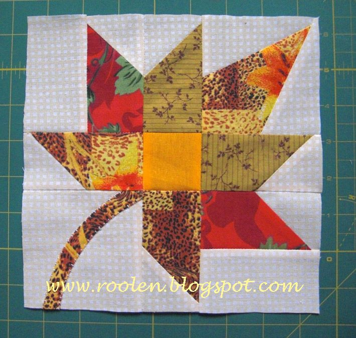fall leaf block tutorial. HST