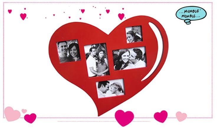 Hai già pensato a cosa regalare a #SanValentino? Ricorda per sempre questa giornata speciale! Incornicia un sorriso o un momento speciale in una #Cornice in #legno a forma di #cuore. Potrai inserire fino a 5 #foto!  Scegli una foto romantica ed inseriscila all'interno del Grande Cuore 50 x 43 cm, dove potrai far vedere tutto il tuo #amore.