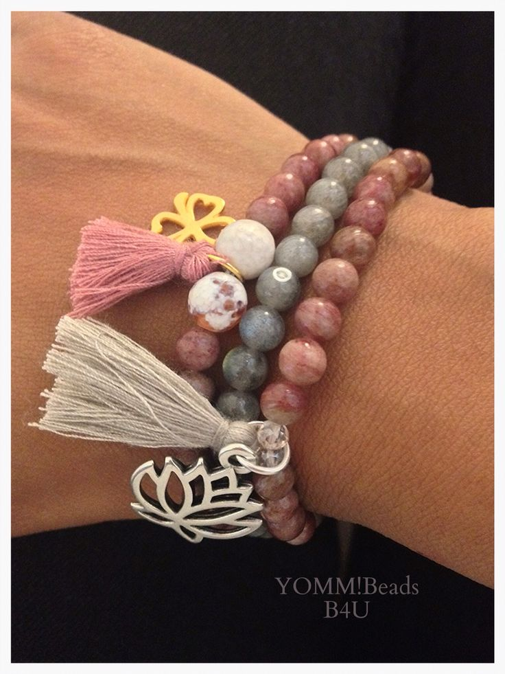 YOMM!!! Beads. Bracelets made of natural stone. In the picture: Piedmontite with Crystals or Agate. For more information visit my shop:https://m.facebook.com/roxanaebalmes