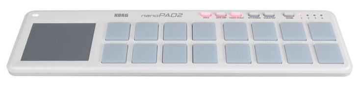 Korg nanoPAD 2 white #midi #controller £4564 Pads, White Midi, Midi Control, Usb Midi, Korg Nanopad2, Pads Control, Nanopad2 Usb, Control White, 1X Pads
