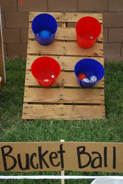 Turn your backyard into a county fair with this fun bucket game. #games #kids #outside