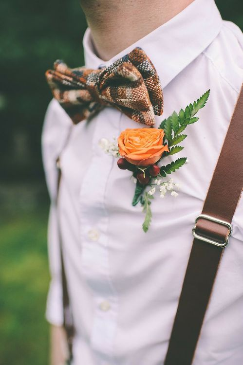Ripe color combinations. Autumn mood in the costume of the groom.