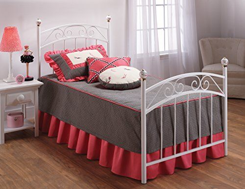 Hillsdale Furniture 11180BTWR Emily Bed Set with Rails, Twin, White