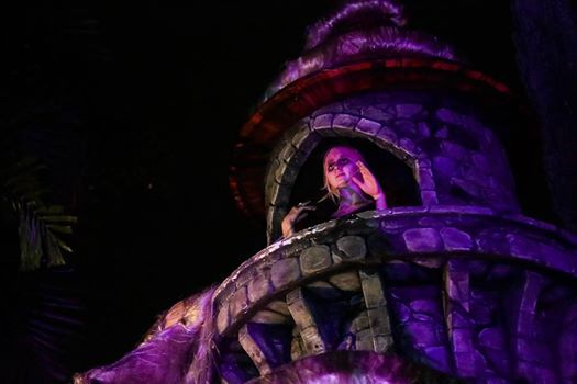 """Rapunzel, Rapunzel, let down your hair!""  Famous last words from the brave souls who dared to venture into Scary Tales at Halloween Horror Nights 4 at Universal Studios Singapore.   Be careful as you wander around her tower as you might very well be her next victim."
