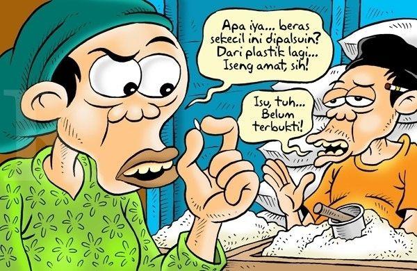 Kartun Benny, Kontan - Mei 2015: Beras Plastik (Lagi)