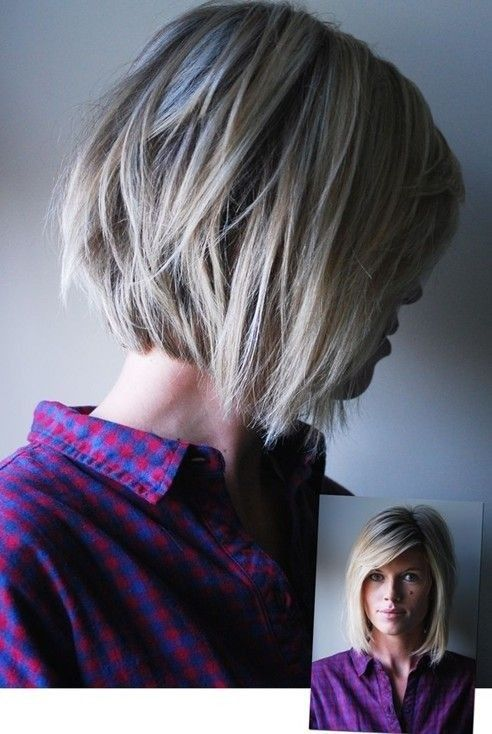 This choppy bob plays a visual trick, with a slightly stacked back and disconnected longer layers framing the face at the front. The front looks like a regular A-line bob, but it has a clever fringe trick, too. From a slightly diagonal parting, there are shorter layers cut to make a deep, but not very[Read the Rest]