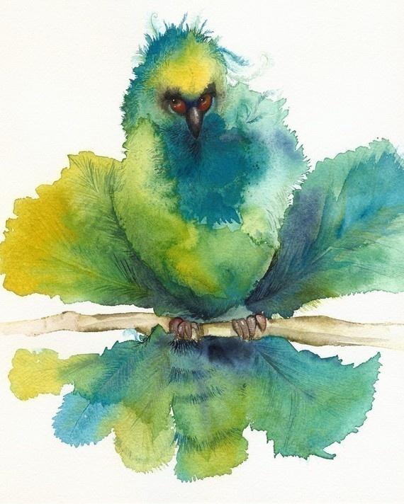 .: Watercolor Art, Birds Art, Watercolor Paintings, Beds Head, Water Color, Head Birds, Amber Alexander, Alexander Watercolor, Birds Watercolor