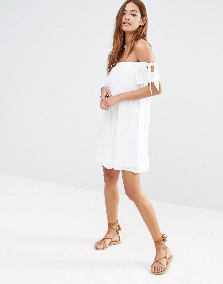 missguided off the shoulder swing dress at asos com modestil
