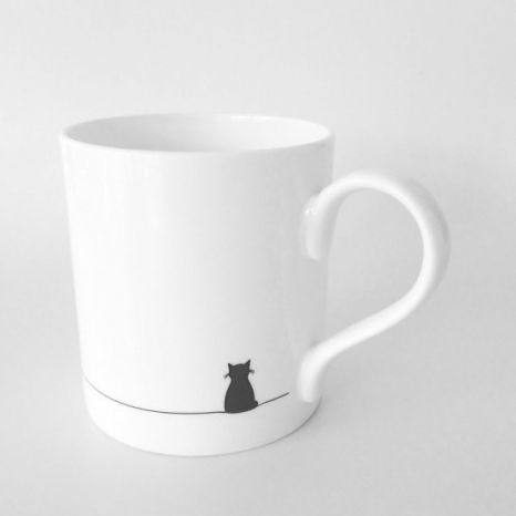 Adorable Sitting Cat Mug from Jin Designs