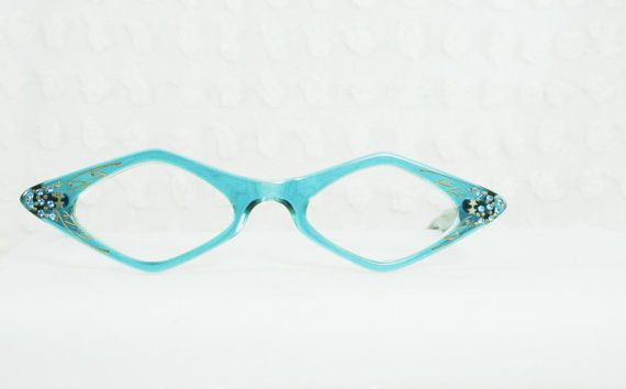 Eyeglass Frames With Diamonds : Vintage 1960s Diamond Glasses 60s Womens Eyeglasses Clear ...