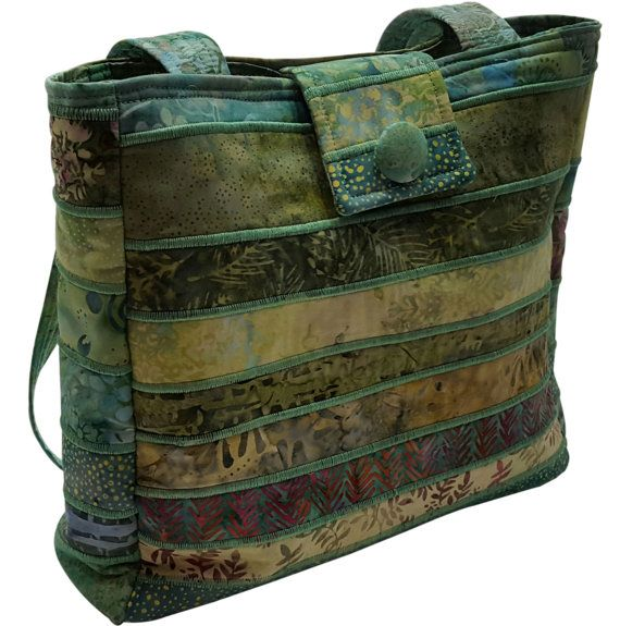 Large Batik Purse in Green Fabrics by Sieberdesigns on Etsy