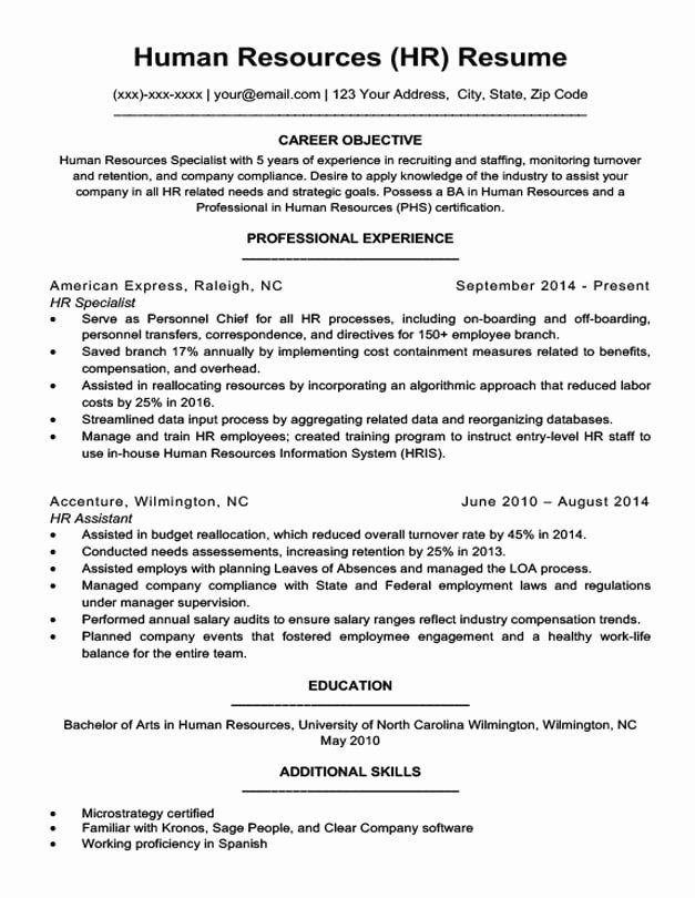 human resource manager resume example luxury human