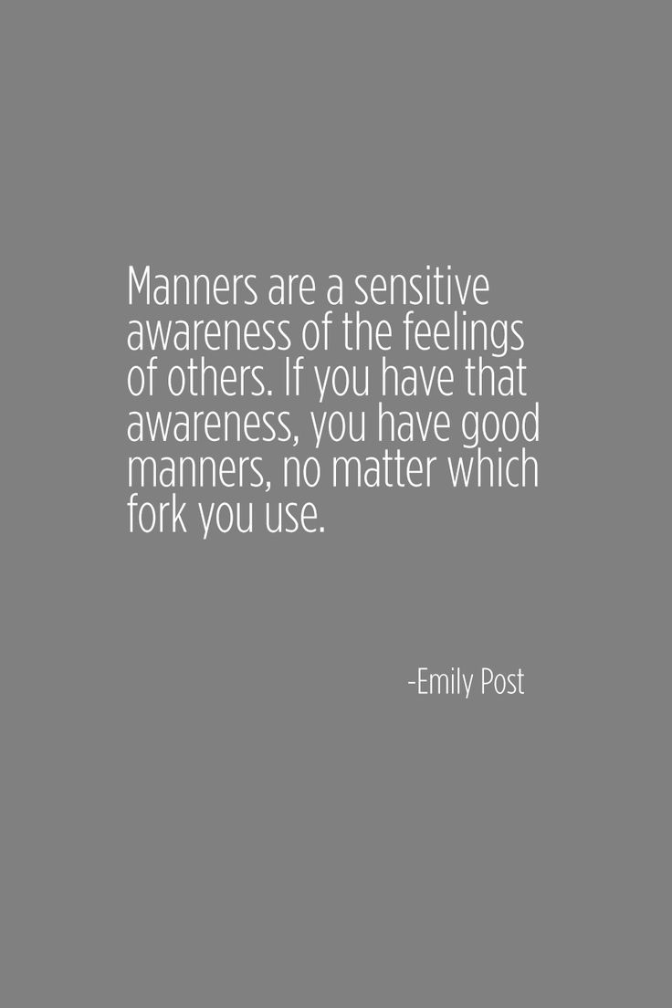 Good Manners - a great quote for kids