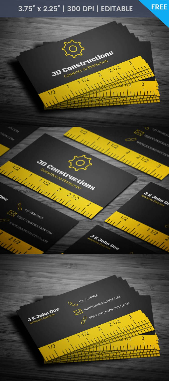 Background On Scale Construction Card Construction Construction Business Cards Printing Business Cards Business Card Template Design
