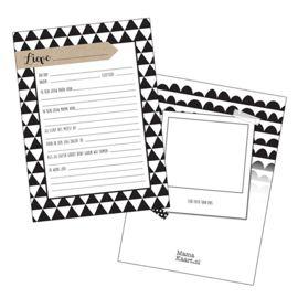 Kraambezoek kaarten, leuk om kraamvisite iets op te laten schrijven zoals: Waar kennen papa en mama het bezoek van? Buy at www.prettypresents.nl #kraambezoekkaarten #kaarten #baby #inverwachting #geboorte #zwanger #babyshower #kraamcadeau