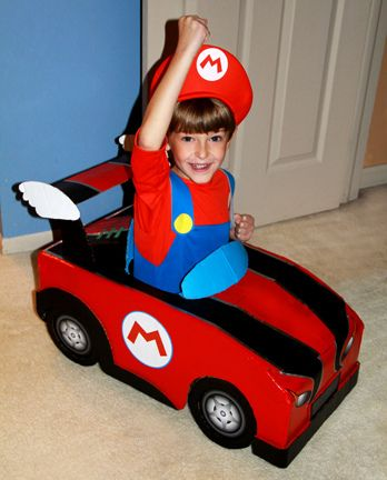 final mario kart halloween costume diy handmade from a plain cardboard box by isewcute by isewcute, via Flickr