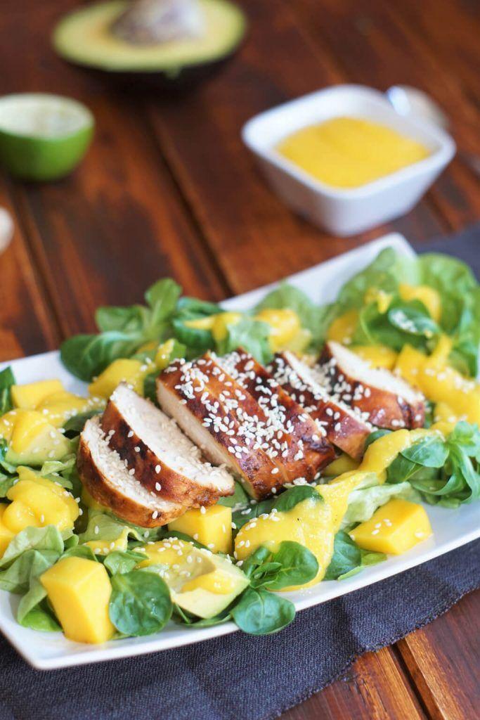 Mango-Hähnchen Salat – ein exotischer Genuss!