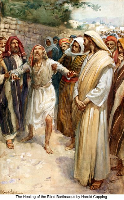 The Healing of the Blind Bartimaeus by Harold Copping