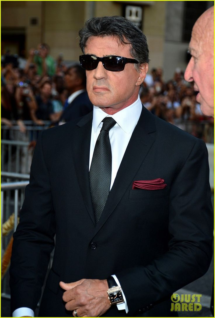 'Expendables 2' Premiere with Sly Stallone! His tailor is all masterful! That timepiece...